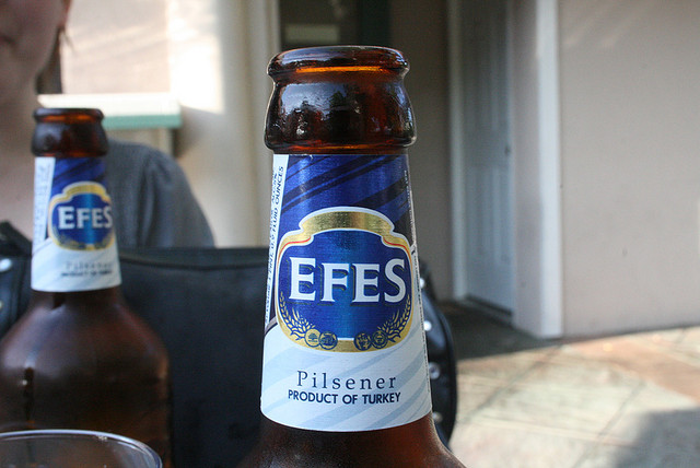 Turkish beer Efes