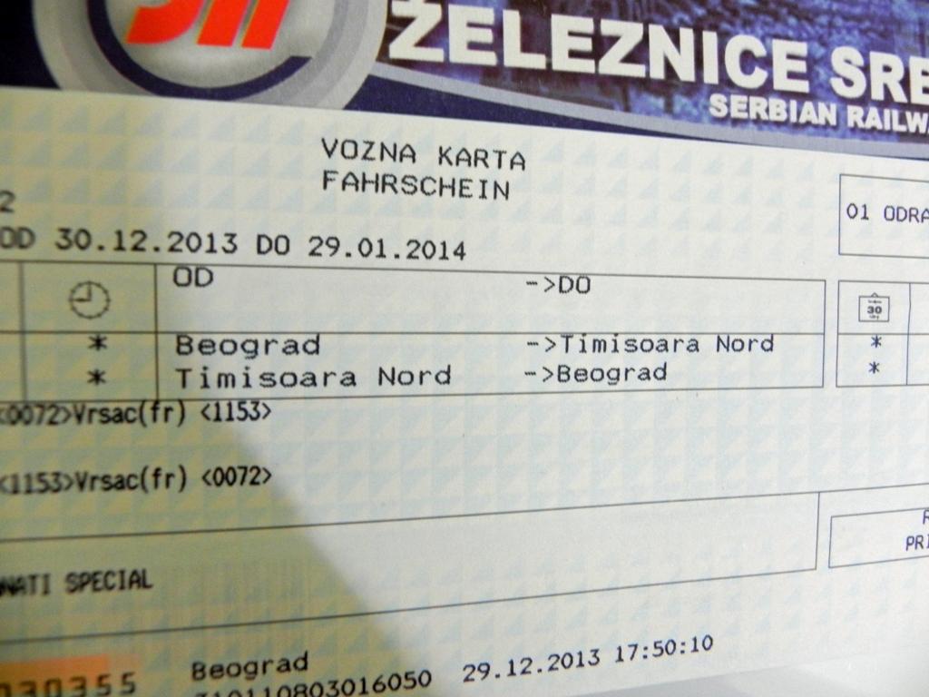 Serbian railways Banat special