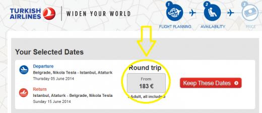 turkish airlines belgrade istanbul
