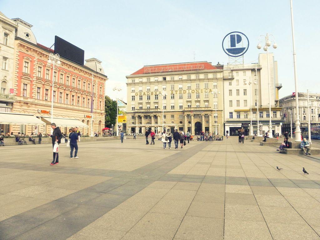 Ban Jelačić square in Zagreb
