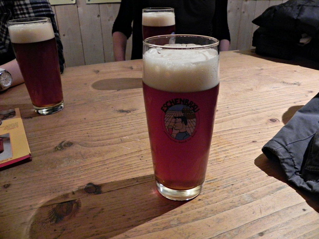 Rauchbier (smoked beer) - Eschenbrau bar Berlin