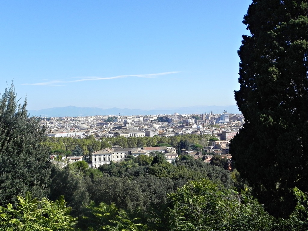 View from the Gianicollo hill