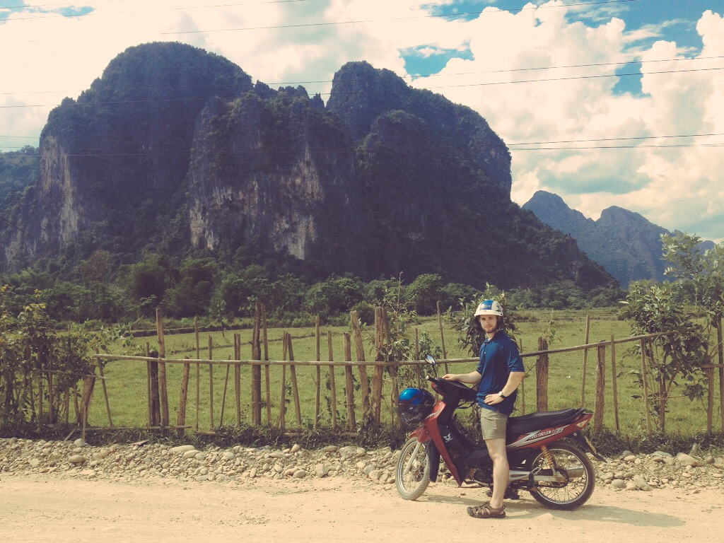 Nico in Laos - digital nomad lifestyle