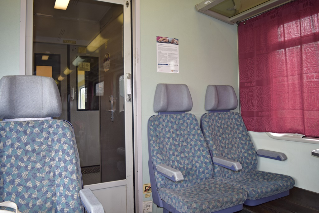 Belgrade to Budapest by train - MAV passenger car