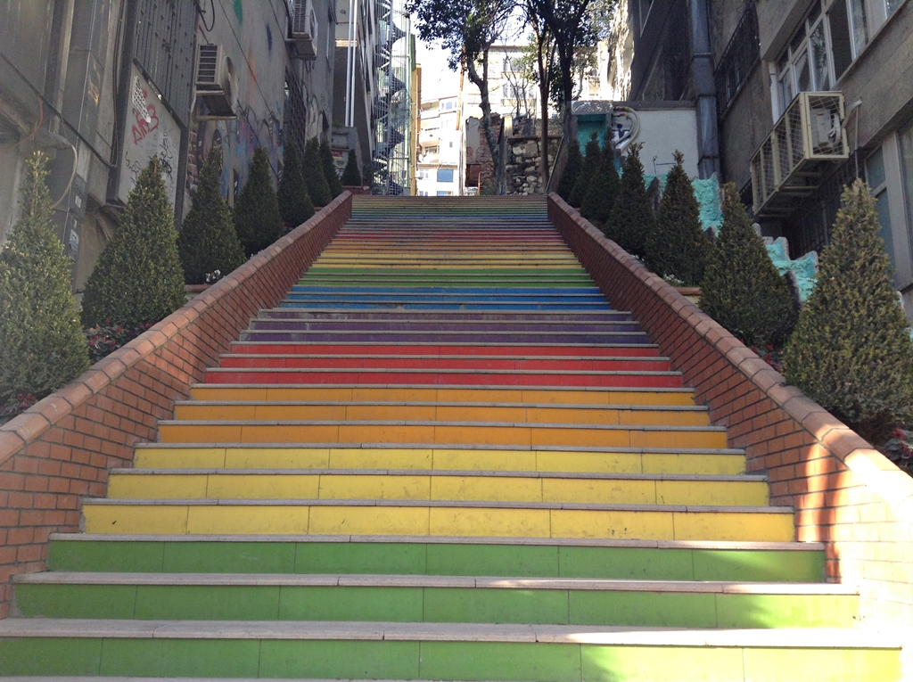 Rainbow stairs Besiktas